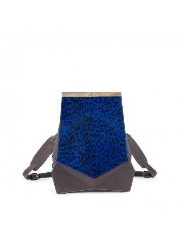 حقيبة ظهر جيومترك زرقاء مرقطة
