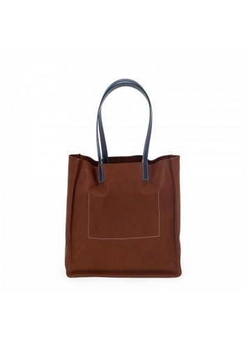 Geometric Backpack (Black/Camel)